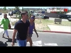 Jensen Ackles and wife Danneel Harris in great spirits leaving Malibu Chilli cook off 2012