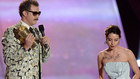 Aubrey Plaza Crashes The Stage During Will Ferrell's Speech At The Movie Awards