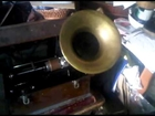 1898 Edison Home Phonograph playing a rare Edison Bell brown wax...