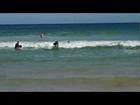Sasha Grey Surfs and Falls on Bondi Beach