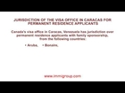 Jurisdiction of the visa office in Caracas for permanent residence applicants