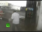 Lucky MISSED: Russian man missed the DEATH Crash at the gas station