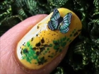 Beautiful Butterfly nail design ! EASY nail designs for short nails- nail art tutorial beginners