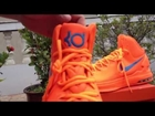 NIKE Men's Zoom KD V Basketball Shoes/Total Orange/Team Orange www.chinawholesalezonebiz.com