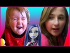 New Years Day Prank - Kids Hot Pepper Challenge - Sour Lemon Baby - Monster High Toys