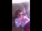Kid eats doller bill