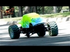 RC ADVENTURES - Exceed Madbeast 1/8th Scale MT -  3 Wheel Monster - DJMEDiC2008 & NiTRORCX