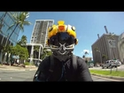 Bumblebee Custom Motorcycle Helmet on YAMAHA R1 GoPro Hero HD