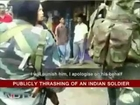 An Indian Girl Beating Army Soldier in Bazaar On Harassing Her