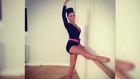Lucy Mecklenburgh Shares Ballet Stretch Snap
