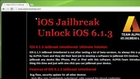 IOS 6.1.3 Jailbreak Untethered Tutorial - Unlock Any IPhone 5 , IPhone 4,Iphone 3Gs,IPad 3